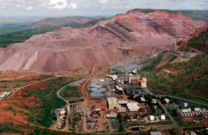 Rio Tinto's Argylle Diamond mine.