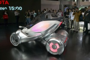 The Toyota PM single-seat concept was shown at the 2003 Tokyo Motor Show.