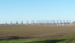 The completed Mildura 'Dense Array' CPV Demonstration Facility, June 2013 Image credit: Silex media release