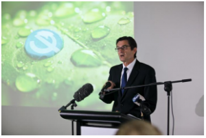 Minister Combet at the opening of the Lane Cove West plant Image from Phebra website