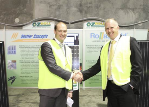 Minister Kenyon and Geoff Timbs, Sales Director – Partner Solutions, Schneider Electric Image credit: Press release