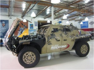 Alcoa's newest armor alloy -- Alcoa's ArmX 5456-H151 armor -- is now specified for use by the United States Army Research Lab (ARL) for use in U.S. military vehicles. Alcoa's ArmX 5456-H151 armor was demonstrated on the US Army's Fuel Efficient Ground Vehicle Demonstrator (FED ALPHA), shown here. Image credit: Alcoa media release