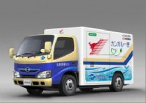 Hino Motors has passed the six-month point in its trial of three prototype full electric commercial vehicles. Image credit: Media Release