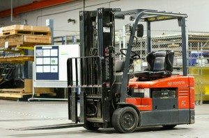 Toyota forklift  Image credit: flickr.com User: Donald Boger