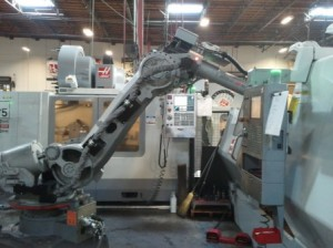 Robots in manufacturing Image credit: flickr User:  Haas Automation, Inc.