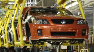 A Holden VE Commodore rolls off the production line in Adelaide. Image: Sydney Morning Herald