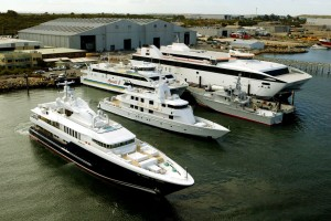 Austal's Mobile, Alabama shipyard with the new state-of-the-art Modular Manufacturing Facility Image: Austal