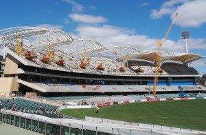 The Adelaide Oval under reconstruction Image credit: flickr User:  Adriano_of_Adelaide