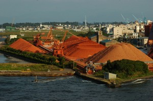 Iron ore piles Image credit: flickr User:  cam17