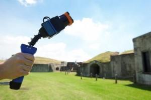 Zebedee scanner in use at Fort Lytton Image credit: www.csiro.au