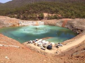 The new treatment in progress to remove a range of metal contaminants. Image credit: www.csiro.au