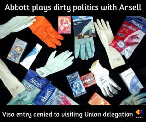 Abbott Government for denying entry VISAs to international Union delegation