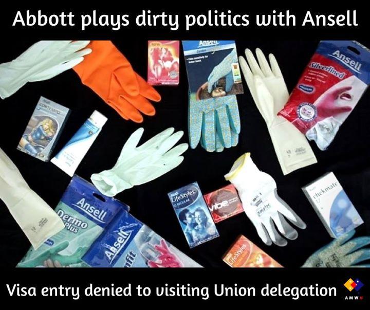 AMWU, CFMEU and TCFUA slam Abbott Government for denying entry VISAs to international Union delegation