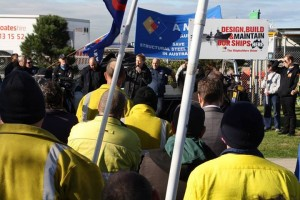 Local jobs first: AMWU Victorian State Secretary Steve Dargavel demands tighter controls to source local content on government projects. (Image credit: http://www.amwu.org.au/)