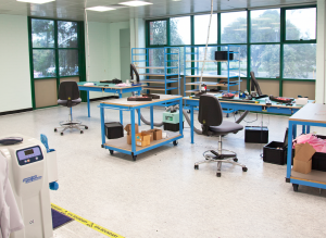Anti-static assembly area for LED Lighting at CMP Controls