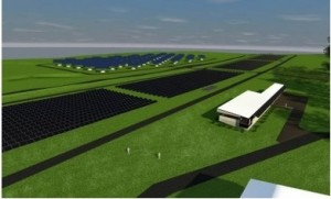 An artist's impression of the solar research facility at UQ Gatton on completion. Image: Wilson Architects