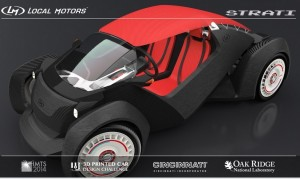 Strati – the world's first 3D printed car to be live printed during IMTS 2014