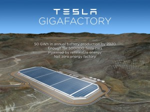 Tesla Motors to build a $10bn battery gigafactory in Nevada