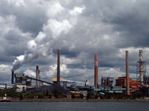 Blaze at BlueScope Steel's Port Kembla plant