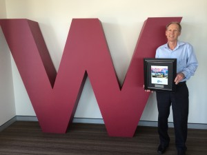 image provided: Graham Harvey with the award win