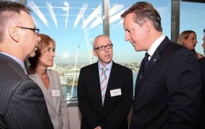 UK Prime Minister David Cameron and GSK executives  Provided image