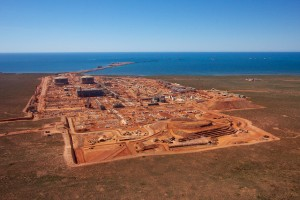 Aerial view of the Gorgon plant site on Barrow Island Image credit: flickr user: Chevron