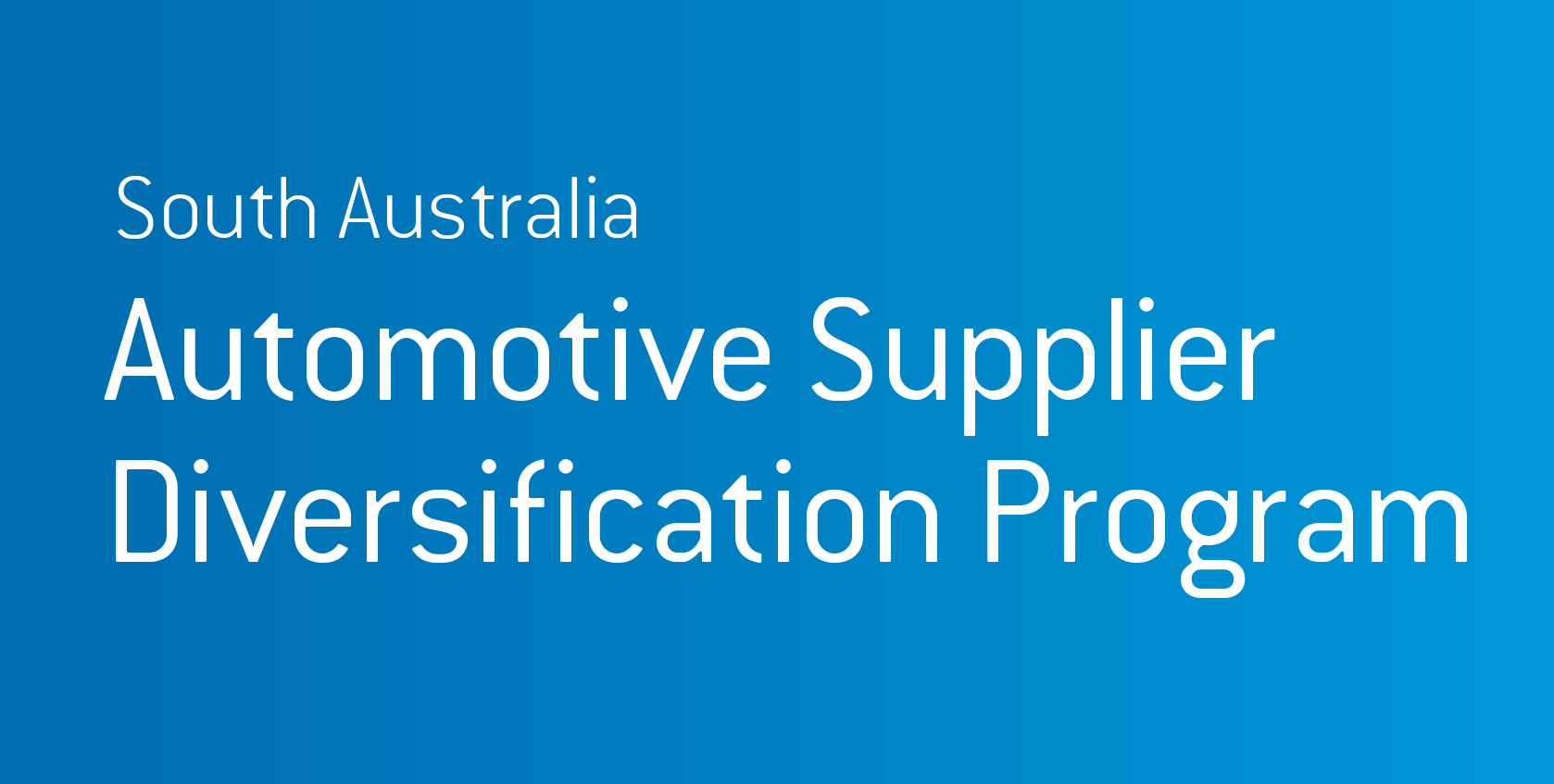 First grants of the Automotive Supplier Diversification Program awarded to three SA companies