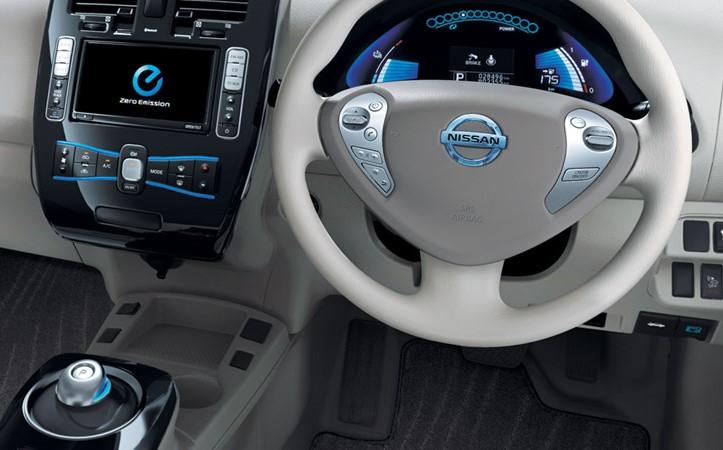 Nissan's all-electric Leaf model Image credit: www.nissan.com.au