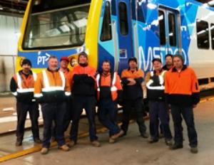AMWU members at Ballarat train-maker Alstom Image credit: www.amwu.org.au