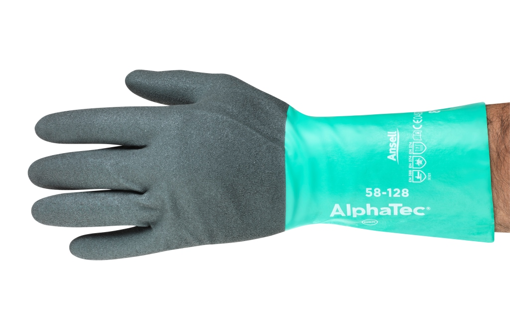 Ansell launches AlphaTec 58-128, the first ergonomically certified chemical glove