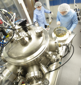 Researchers in CSIRO's labs coating the LIGO optics. Image credit: www.csiro.au