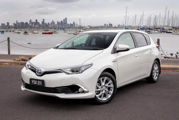 Toyota Corolla Hybrid (pre-production vehicle shown) Image credit: Toyota