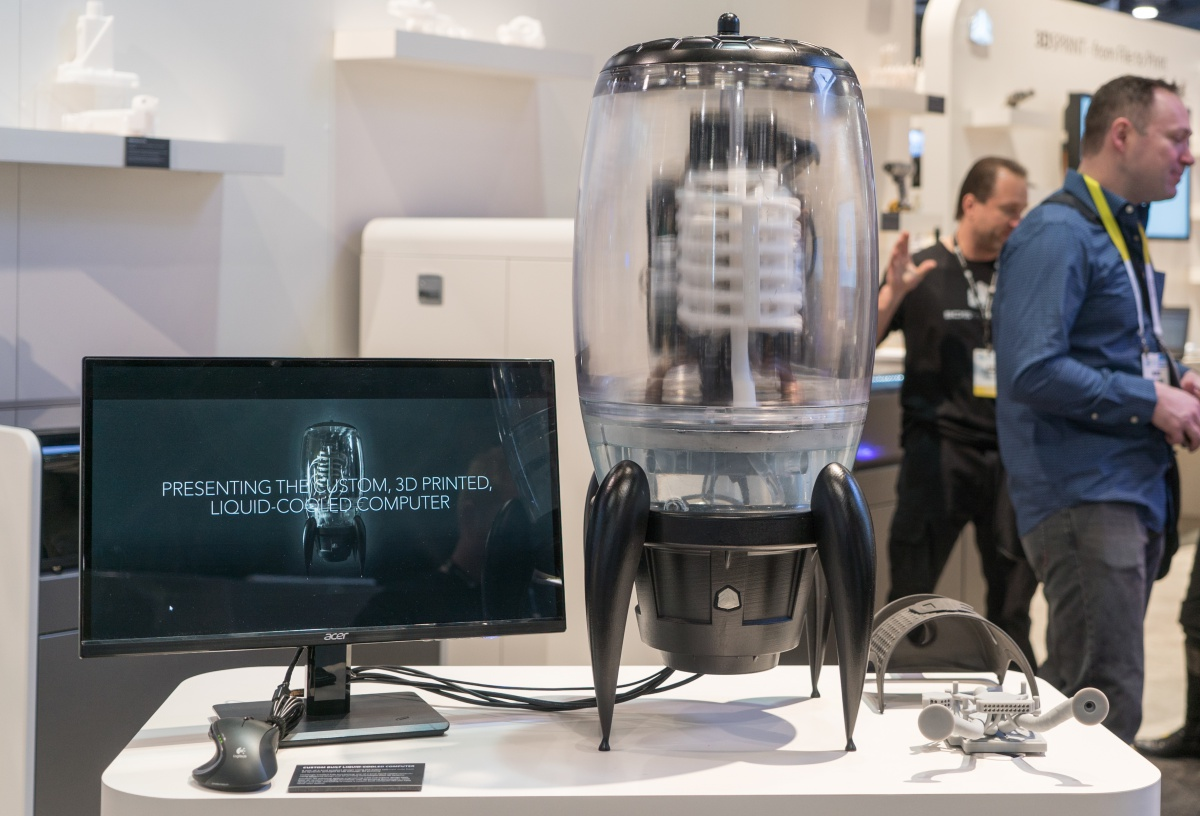 Check out 3D Systems' 3D printed Liquid-Cooled Computer