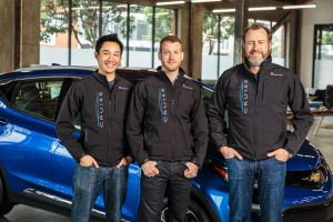 General Motors President Dan Ammann (right) with Cruise Automation co-founders Kyle Vogt (center) and Daniel Kan (left). Image credit: www.gm.com
