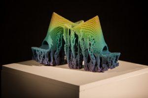 Francis Bitonti's 3D printed molecule shoes Image credit: investors.stratasys.com