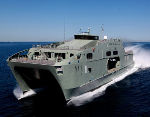 The 72m High Speed Support Vessel (HSSV) Rnov Al Mubshir Image credit: www.austal.com