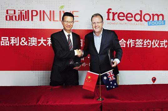 Freedom Foods inks strategic partnership with leading Chinese distributor
