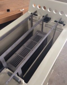 250 litre production cell under construction  Image credit: First Graphite Limited ASX release