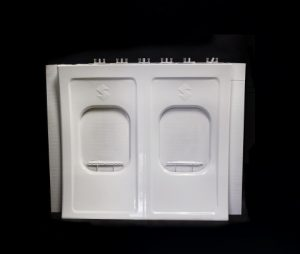 Stratasys Infinite-Build 3D Demonstrator part Aircraft Panel.  Image credit: Business Wire
