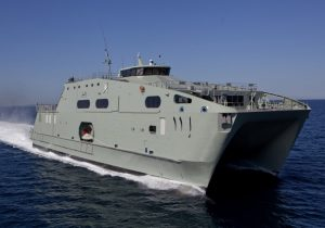 Image credit: www.austal.com RNOV Al Mubshir (S11), the first High Speed Support Vessel (HSSV) designed and constructed by Austal Australia for the Royal Navy of Oman