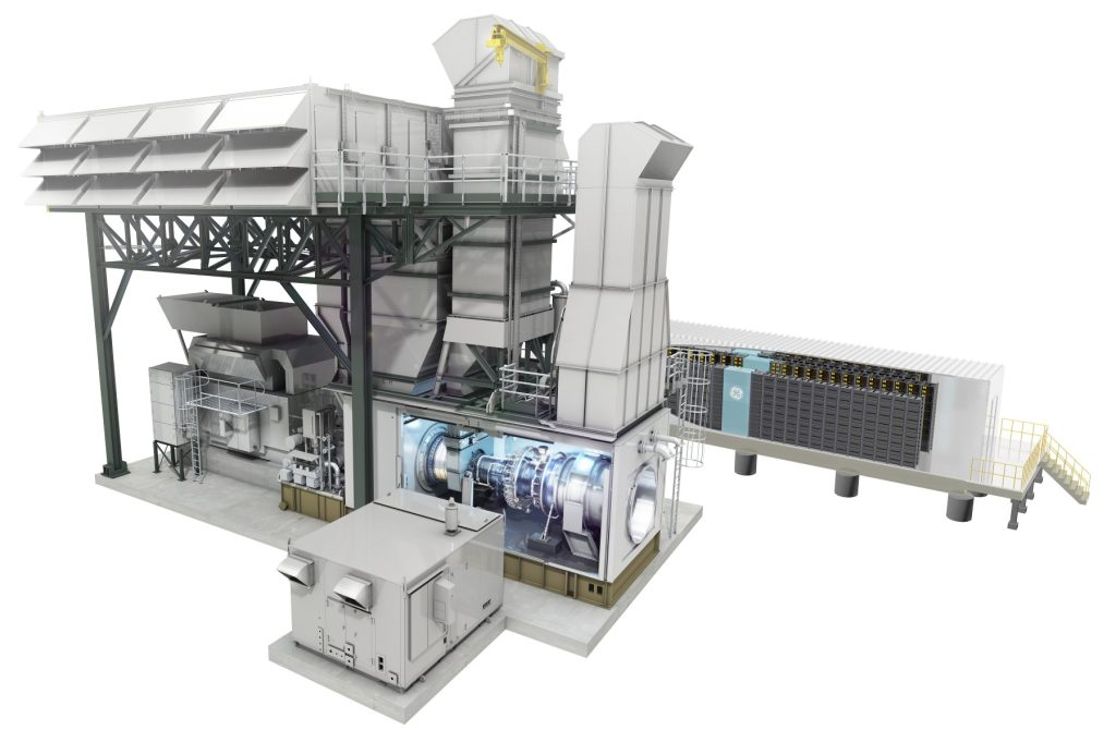 GE's hybrid LM6000 aeroderivative gas turbine and battery storage system Image credit: www.genewsroom.com