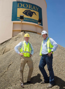 The Minister for Mines & Petroleum, the Hon Sean L'Estrange MLA and Doray's Managing Director, Mr Allan Kelly